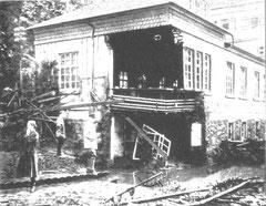 Die vordere Ecke der Stübnerschen Fabrik