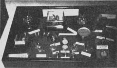 Die Ausstellungsvitrine der Schule auf der Reichstagung 1935