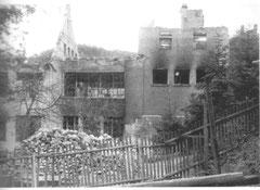Das zerstörte Fabrikgebäude der Firma Lange