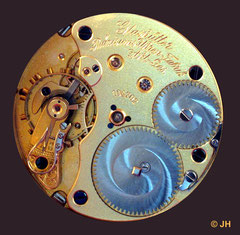 1. Schablonenuhr  Kaliber 43 Typ 1 der Glashütter  Präzisions-Uhren-Fabrik Akt.-Ges.