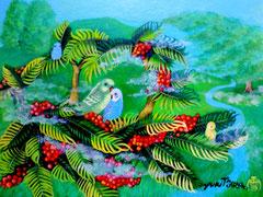 穏やかな楽園 絵画 楽園のアート 立花雪 YukiTachibana