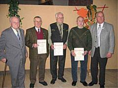 v.l.: Joachim Bomba, Kurt Dömeland, Arno Hopf, Dietrich Holtz, Eckhard Niemeyer (Vorsitzender)