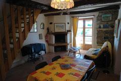 De woonkamer van 'La Clède'