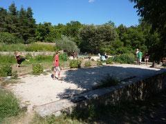 Pétanque- en badmintonspelers