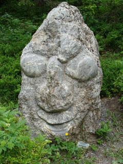 Steinskulptur Oeschinensee