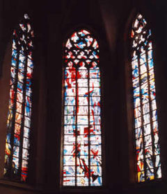 Die Fenster im Querschiff