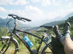 Fahrradtour Blick Meran