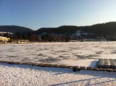 Lac Gérardmer gelé