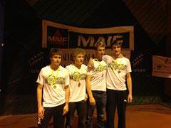 Equipe Lycée Garçon, vainqueur du challenge Fish & Rowing