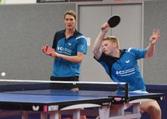 Niklas Schadomsky und Florian Fechtler gewannen im Doppel (Foto: Tuschen).