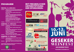 Programmablauf Weinfest 2016