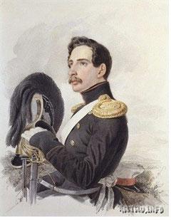 Брюллов. Портрет поручика лейб-гвардии Конного полка, середина 1830-х