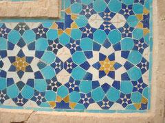 figuur 1 Detail van een mozaiek in Yazd (Iran)