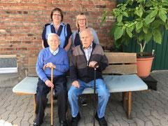 Die Gründer und ,Macher' im Jahre 2018: Werner Maluk und Tochter Regina, Egon Bökhaus und Tochter Barbara Mohme.
