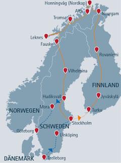 Skandinavienreise mit Norwegen, Schweden & Finnland