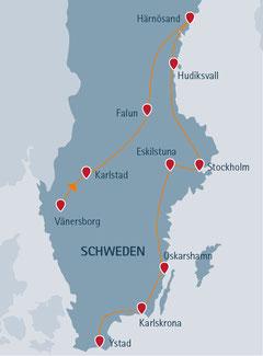 2019: Übernachtung in Karlshamn statt in Karlskrona