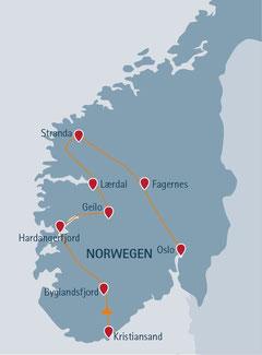 Norwegen-Urlaub mit Campingplatz- und Hüttentour