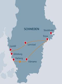 Charmante Autoreise durch Schweden