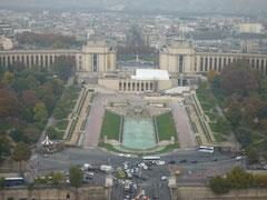 シャイヨー宮を見下ろしました。