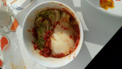 サンバルで作った自作キムチ