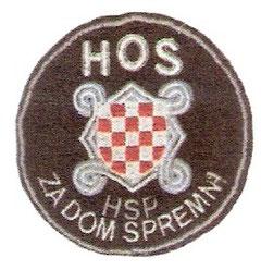 slika 575 - Znak Hrvatskih obrambenih snaga (HOS)