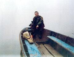 ČAMAC NA SAVI Petar Stipetić prilikom prelaska Save kod Županje u studenome 1992.