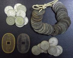 お買取りさせて頂いた古銭。