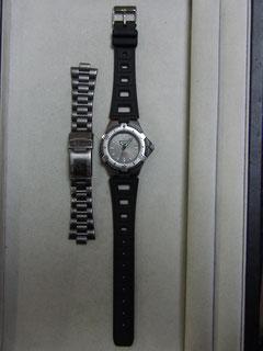 バンド加工取り付け後の時計