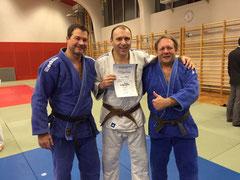 Kurt Nehrer, Peter Kropsch und Werner Bogenstorfer vom Judo Club Stockerau