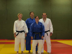 Judo Club Stockerau - Marlies Menhart, Monika Moormann, Markus Betz und Diana Berner