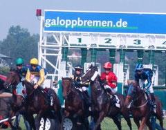 Donna Lavinia (ganz rechts) bei ihrem Start in Bremen