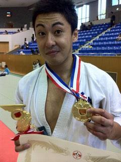 受賞後の佐藤選手