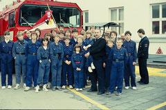 1984 und 1985 besuchten die Jugendlichen die Berufsfeuerwehr der amerikanischen Streitkräfte in Hanau.