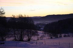 Eine wunderschöne Winterlandschaft begrüßt die Gäste
