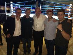 Ryter`s & Christof mit Jürgen Blinan, Profi Boxing-Gala in Zürich 30.08.2014