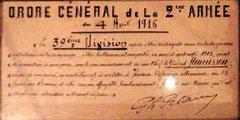 Original - Befehl von Petain - Ausstellungsstück
