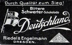 Zeitgenössische Schokoladenwerbung 1916