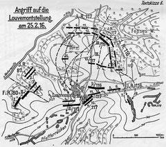 Kurz nach Beginn des Krieges, im August 1914, verlief die Front nur knapp 7 km vom Dorf entfernt. Im Oktober 1914 jedoch gelang es der französischen Armee, den Frontverlauf um einige Kilometer zurück zu drängen. Dies änderte sich erst 1916 wieder