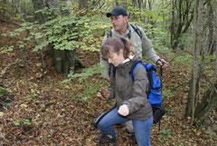 Isabelle und ich im Wald