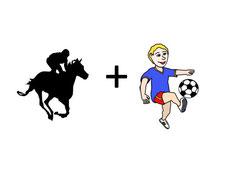 Grafik für Pferde-Rennen und Fußball
