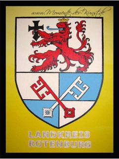 Acryl Wappen Landkreis Rotenburg