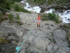 Kletterei zum Buardal Gletscher