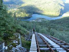 Die Treppe auf dem Weg zur Trolltunga