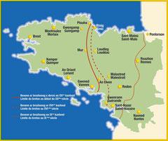Limites du breton au XIe, XVIe et au début du XXe siècle