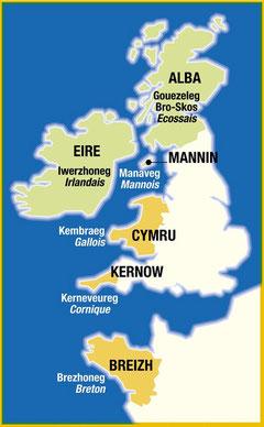 Les langues celtiques aujourd'hui