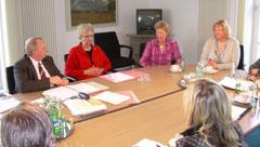 Gesprächsrunde mit Verbraucherschutzminister Dr. Till Backhaus und Landestierärztin Frau Dr. Dayen