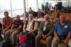 L'équipe de bénévols au départ de Paris