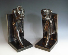 Hungarian Ceramic Bookends, 1930s