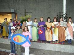 """Familiengottesdienst 2007 zum Thema """"Nachfolge Jesu"""""""