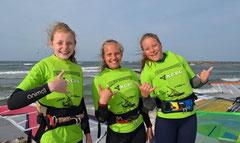v.li.: Luzie, Johanna und Antonia hatten Spaß!